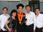 My Graduation (left to right ~ Akiet susuk, Pho2, Me, Dad, Amin susuk)